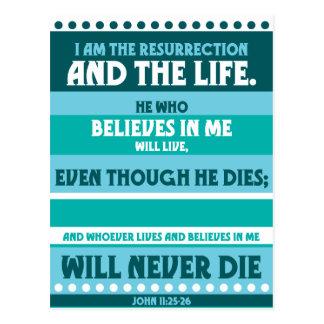 Cartão Postal Quem quer que acredita em mim nunca morrerá