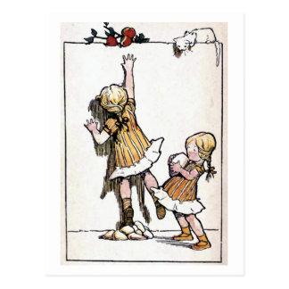 """Cartão Postal """"Querer é poder"""" vintage"""