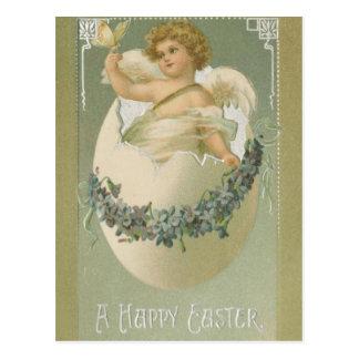 Cartão Postal Querubim da páscoa do vintage