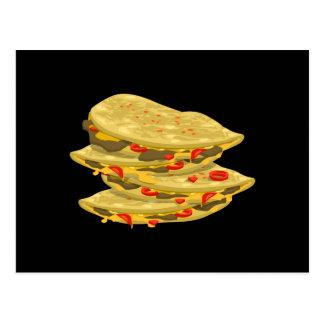 Cartão Postal Quesadilla picante da comida do pulso aleatório