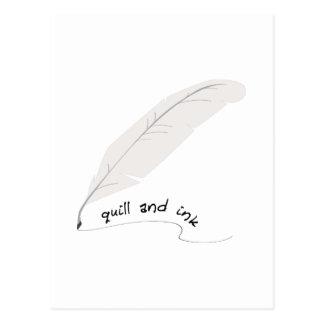 Cartão Postal Quill e tinta