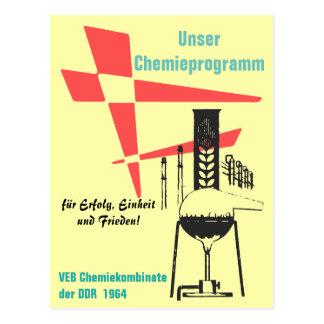 Cartão Postal Química desenhos de cartaz de publicidade DDR
