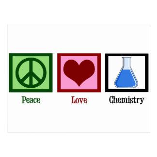 Cartão Postal Química do amor da paz