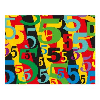 Cartão Postal Quinto, 55th ou 50th aniversário ou aniversário #5