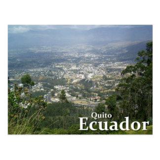 Cartão Postal Quito, Equador do parque de Metropolitano