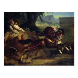 Cartão Postal Raça de Chariot antiga