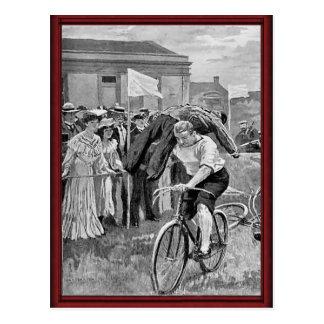 Cartão Postal Raça do ciclo dos marinheiros do vintage