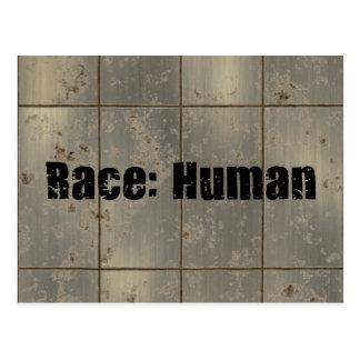 Cartão Postal Raça: Humano
