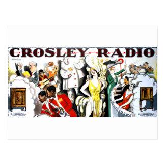 Cartão Postal Rádio de Crosley