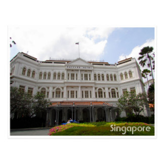 Cartão Postal raffles singapore