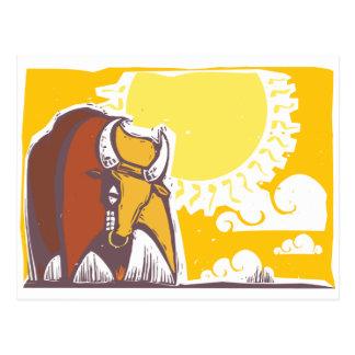 Cartão Postal Raging Bull