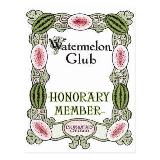 Cartão Postal Ragtime do clube da melancia