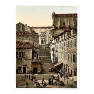 Cartão Postal Ragusa, igreja do jesuíta e hospital militar,