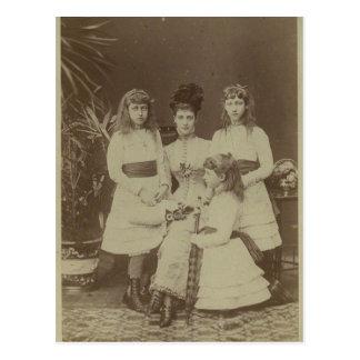 Cartão Postal Rainha Alexandra com suas filhas #010UK