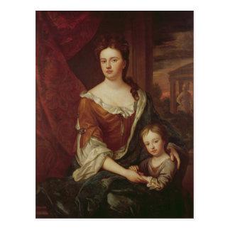 Cartão Postal Rainha Anne e William, duque de Gloucester