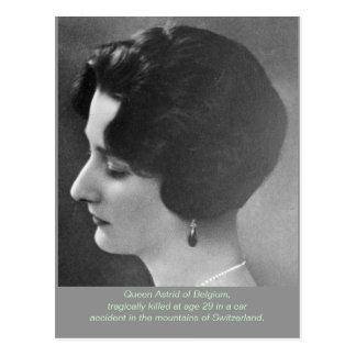 Cartão Postal Rainha Astrid de Bélgica (Astrid da suecia)