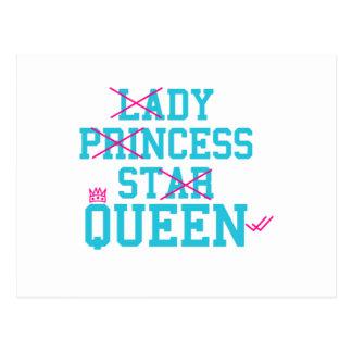 Cartão Postal Rainha da estrela da princesa da senhora
