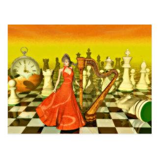 Cartão Postal Rainha da xadrez
