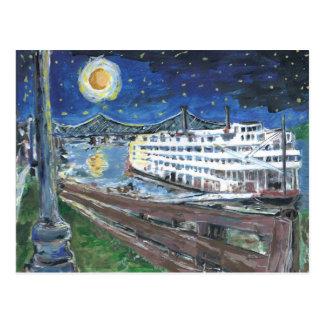 Cartão Postal Rainha de Mississippi da noite estrelado