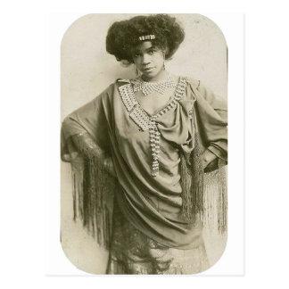 """Cartão Postal """"Rainha do Cakewalk,"""" caminhante de Aida Overton"""