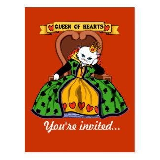 Cartão Postal Rainha do gato dos corações