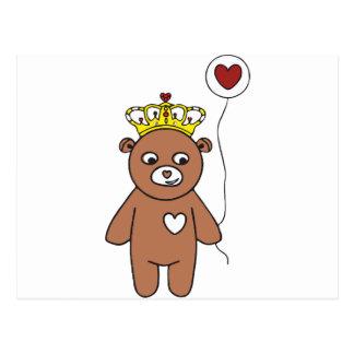 Cartão Postal rainha do urso de ursinho