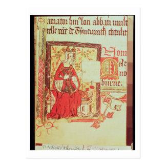 Cartão Postal Rainha fol.7 Matilda de Nero D VIII do algodão que