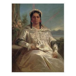 Cartão Postal Rainha Pomare IV de Tahiti