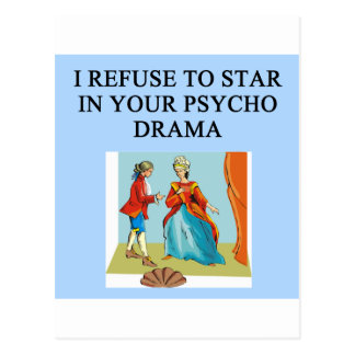 Cartão Postal rainha psicótico do drama