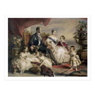 Cartão Postal Rainha Victoria (1819-1901) e príncipe Albert