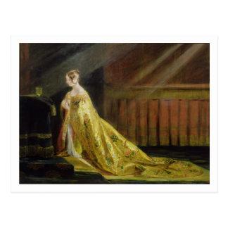 Cartão Postal Rainha Victoria em sua veste da coroação, 1838