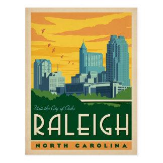 Cartão Postal Raleigh, cidade de North Carolina | dos carvalhos