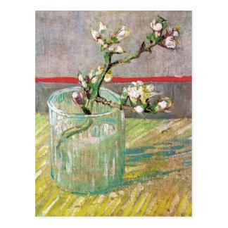 Cartão Postal Ramo de florescência da amêndoa por Vincent van