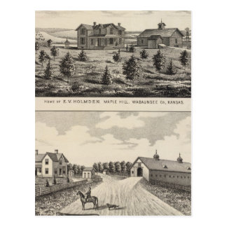 Cartão Postal Rancho de Hilland Silver Spring do bordo, Kansas