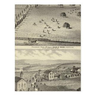 Cartão Postal Rancho do passeio, residência de Weller