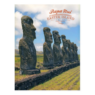 Cartão Postal Rapa Nui (Ilha de Páscoa)