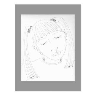 Cartão Postal Rapariga