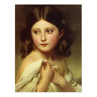 Cartão Postal Rapariga de Franz Winterhalter-, princesa