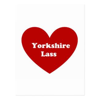 Cartão Postal Rapariga de Yorkshire