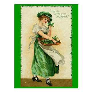 Cartão Postal Rapariga irlandesa