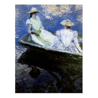 Cartão Postal Raparigas no barco de enfileiramento