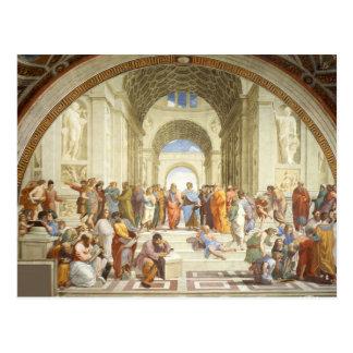 Cartão Postal Raphael - A escola de Atenas 1511