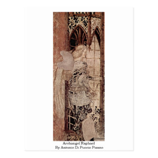 Cartão Postal Raphael do arcanjo por Antonio Di Puccio Pisano