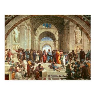 Cartão Postal Raphael - Escola de Atenas