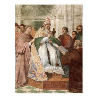 Cartão Postal Raphael: Gregory IX que aprovam o Decretals