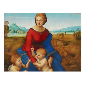 Cartão Postal Raphael: Madonna no prado