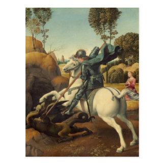 Cartão Postal Raphael - St George e o dragão