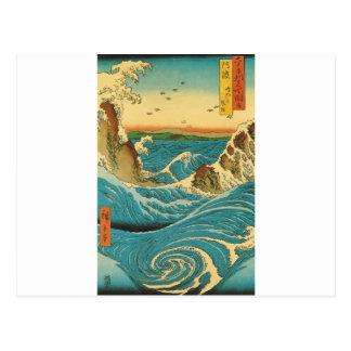 Cartão Postal Rapids de Hiroshige Navaro