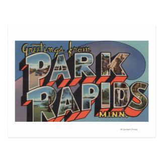 Cartão Postal Rapids do parque, Minnesota - grandes cenas da