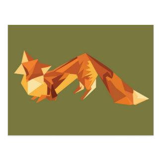 Cartão Postal Raposa de Origami